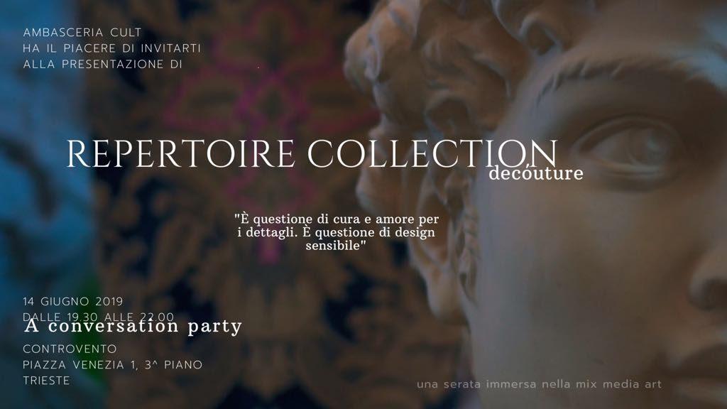 Presentazione di Repertoire Collection venerdì 14 giugno a Trieste