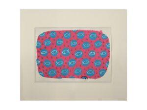 Pesci pois rosa collage su carta dell'artista Zeno Travegan