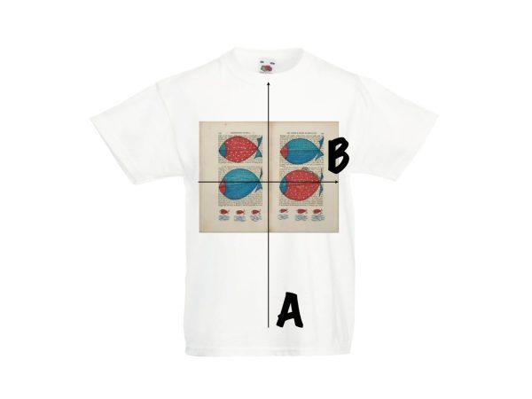 Misure T-shirt d'autore bambino dell'artista Zeno Travegan