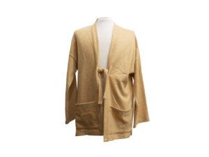 Giacca kimono Pastrano colore giallo ocra