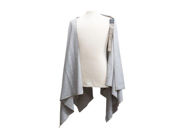 Mantella Pastrano colore grigio con bretella beige