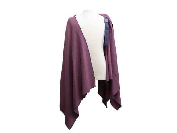 Mantella Pastrano colore viola con bretella blu