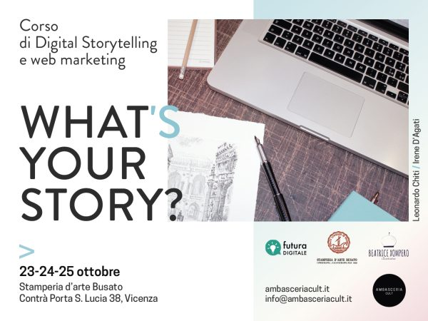 Corso di digital storytelling e web marketing il 24 e 25 ottobre 2020 a Vicenza