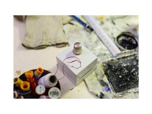 Ricamo e tempo libero nel laboratorio d'arte condotto da Barbara Stefani il 23 febbraio 2020 a Trieste