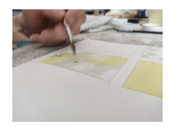 Arte all'interno del laboratorio di acquerello sabato 18 luglio ad Aurisina (Trieste)