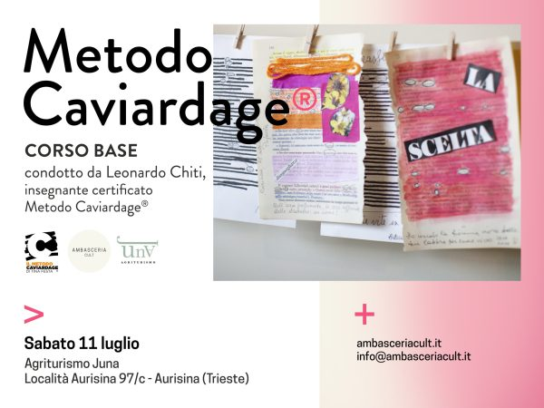 Corso Base del Metodo Caviardage sabato 11 luglio ad Aurisina Trieste