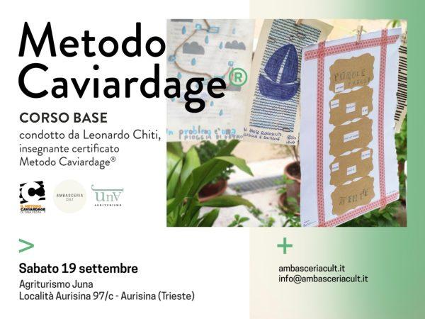 Corso Base del Metodo Caviardage in programma sabato 19 settembre 2020 ad Aurisina Trieste