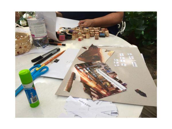 Esercizi creativi durante il Corso Base del Metodo Caviardage sabato 19 settembre 2020 ad Aurisina Trieste