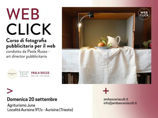 Corso di fotografia pubblicitaria per il web condotto da Paola Russo domenica 20 settembre ad Aurisina Trieste