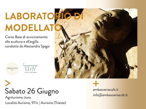 Laboratorio di modellato sabato 26 giugno 2021 ad aurisina Trieste