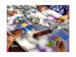 laboratorio creativo di acquerello sabato 12 giugno 2021 ad Aurisina in friuli venezia giulia